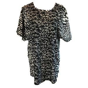 Band of Gypsies Tunic Top Size XS Small Black Gray